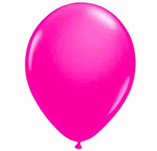 Ballon 25cm magenta/pink neon