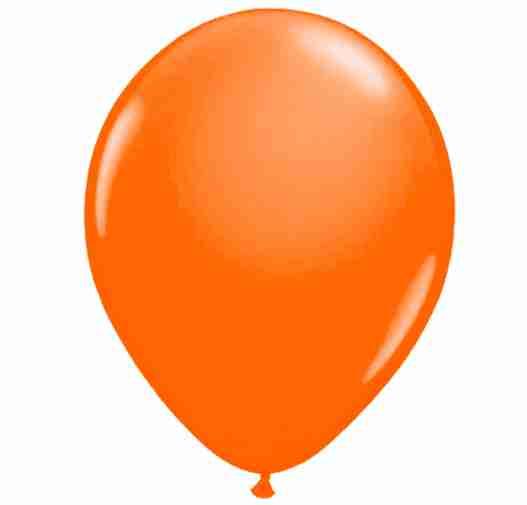 Ballon 25cm oranje neon
