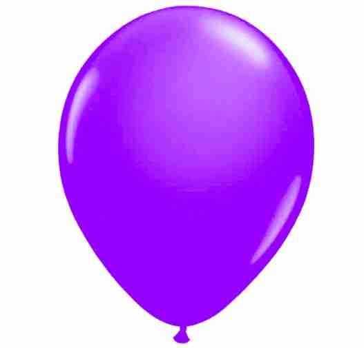 Ballon 25cm violet neon