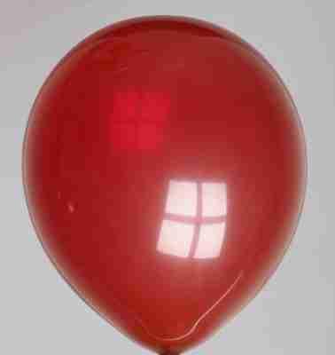 ballon 30cm kristal bordeaux