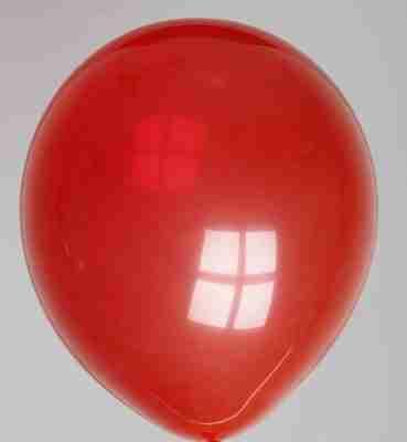 ballon 30cm kristal kersenrood