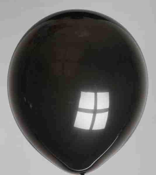 ballon 30cm zwart