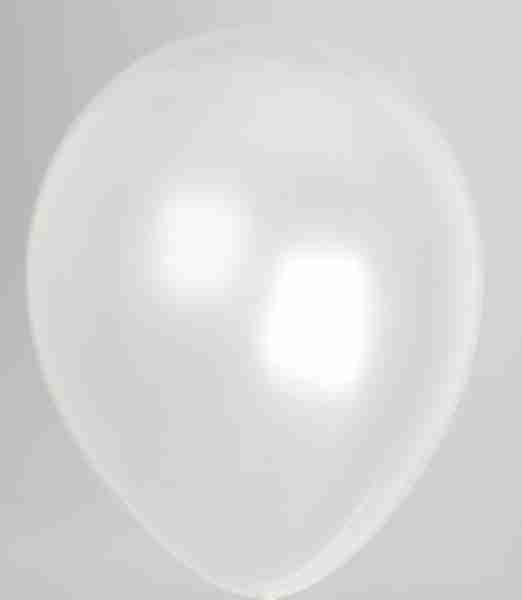 ballon 35cm parel wit