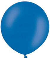 ballon 90cm metallic blauw
