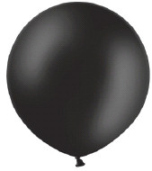 ballon 90cm metallic zwart