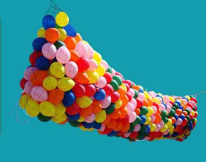 balloon drop net bnp50 2000 ballonnen 420cm x 1500cm