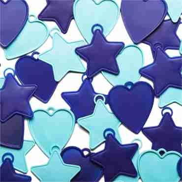 balloon weights blue assortment shapes 8g