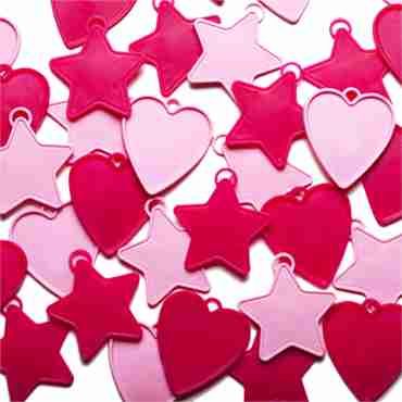 balloon weights pink assortment shapes 8g