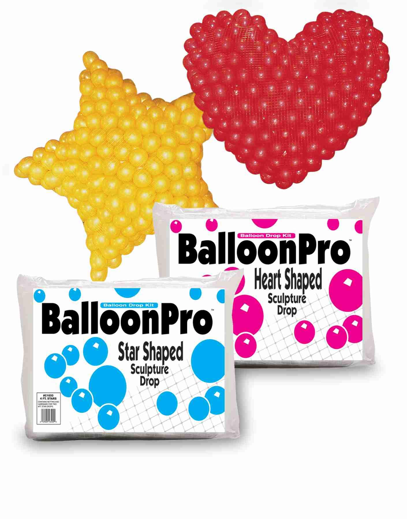balloonpro dropnet voor ballonnen hartvorm 120cm