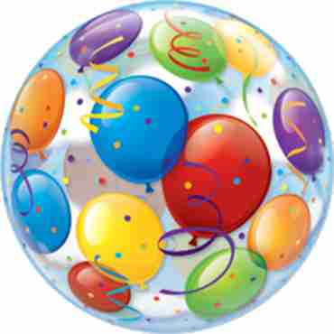 Balloons Single Bubble 22in/55cm