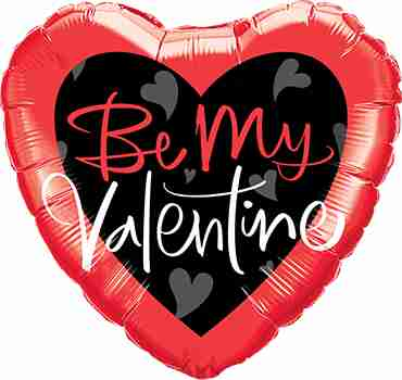Be My Valantine Script Foil Heart 18in/45cm