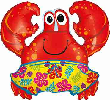 Beach Crab Foil Shape 36in/91cm
