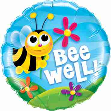 Bee Well! Flowers Foil Round 18in/45cm