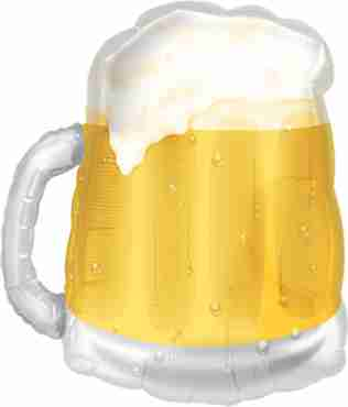 Beer Mug Foil Shape 20in/50cm x 23in/58cm