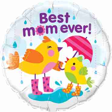Best M(Flower)M Raindrops Foil Round 18in/45cm