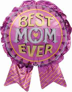 Best Mom Ever Foil Shape 29in/74cm