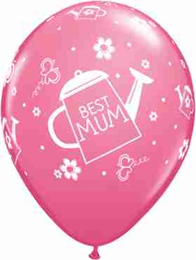 Best Mum Watering Can Fashion Rose Latex Round 11in/27.5cm