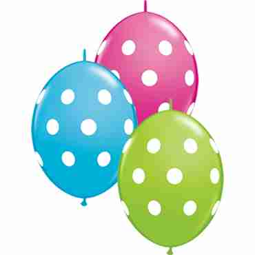 Big Polka Dots Fashion Lime Green, Fashion Wild Berry and Fashion Robins Egg Blue Assortment QuickLink 12in/30cm
