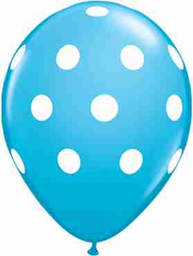 Big Polka Dots Fashion Robins Egg Blue Latex Round 11in/27.5cm