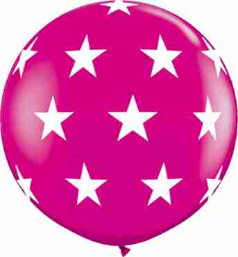 Big Stars Fashion Wild Berry Latex Round 36in/90cm