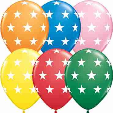 Big Stars Standard Assortment Latex Round 11in/27.5cm