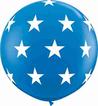 Big Stars Standard Dark Blue Latex Round 36in/90cm