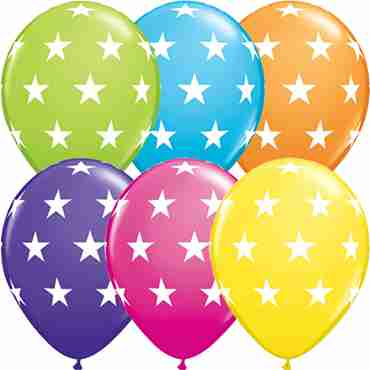 Big Stars Tropical Assortment Latex Round 11in/27.5cm