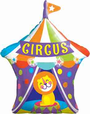 big top circus lion foil shape 36in/90cm