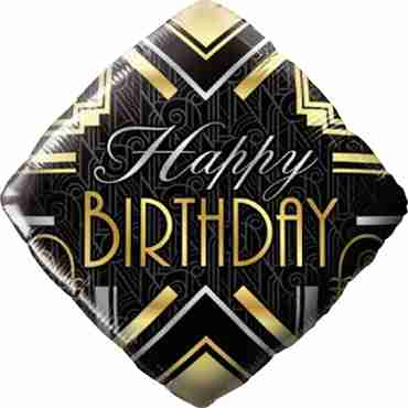 Birthday Art Deco Foil Diamond 18in/45cm
