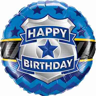 Birthday Badge Foil Round 18in/45cm