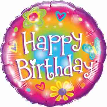 Birthday Bright Foil Round 18in/45cm