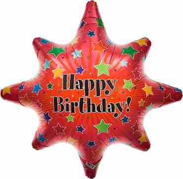 birthday burst foil shape 24in/61cm