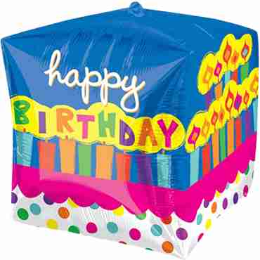 Birthday Cake Cubez 15in/38cm x 15in/38cm