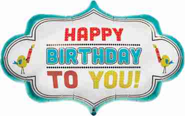 birthday dotty frame foil shape 28in/71cm