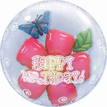 Birthday Flower Double Bubble 24in/60cm