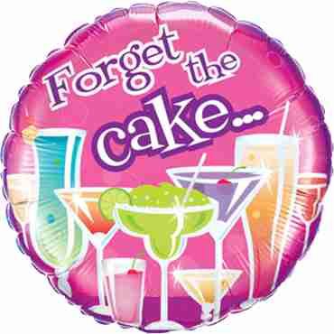 birthday forget the cake foil round 18in/45cm