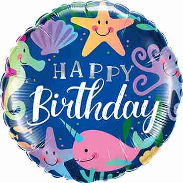 Birthday Fun Under The Sea Foil Round 18in/45cm