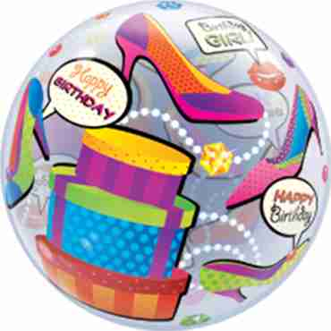 Birthday Girl Shopping Spree Single Bubble 22in/55cm