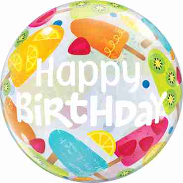 Birthday hot summer Treats Single Bubble 22in/55cm