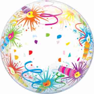 Birthday Lit Candles Single Bubble 22in/55cm