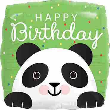 Birthday Panda Foil Square 18in/45cm