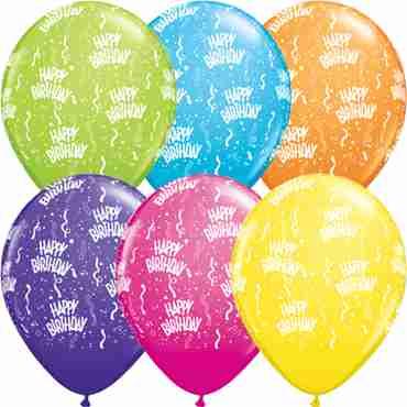 Birthday Retail Assortment Latex Round 11in/27.5cm