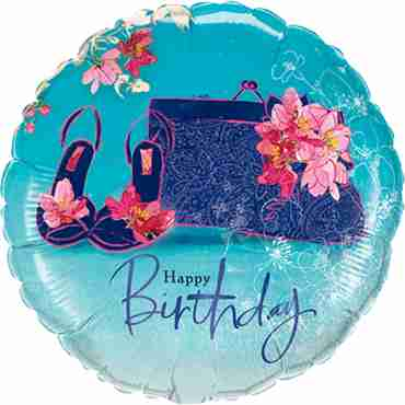 Birthday Shoes and Handbag Foil Round 18in/45cm