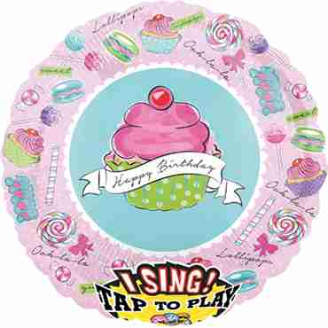 Birthday Sweets Sing A Tune Foil Round 28in/71cm