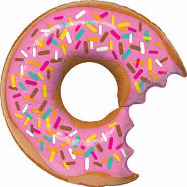 Bit Donut and Sprinkles Foil Shape 36in/91cm