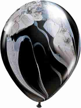 Black and White SuperAgate Latex Round 11in/27.5cm