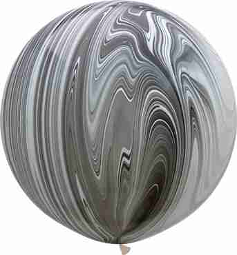 Black and White SuperAgate Latex Round 30in/75cm