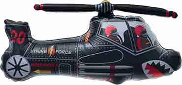Black Chopper Foil Shape 36in/91cm