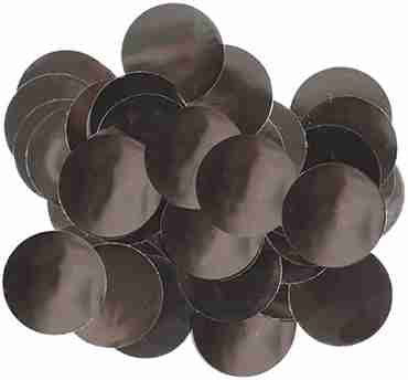 Black Metallic Round Foil Confetti 10mm 14g