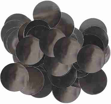 Black Metallic Round Foil Confetti 25mm 14g